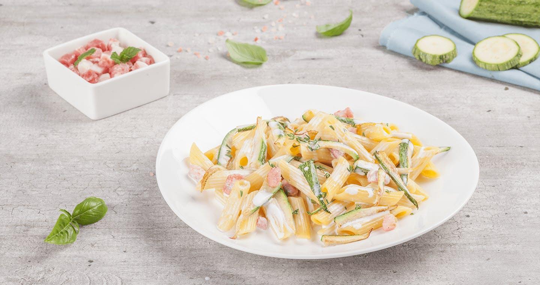 Penne zucchine e pancetta - Parmalat