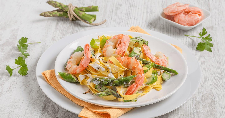 Tagliatelle asparagi e gamberetti - Parmalat