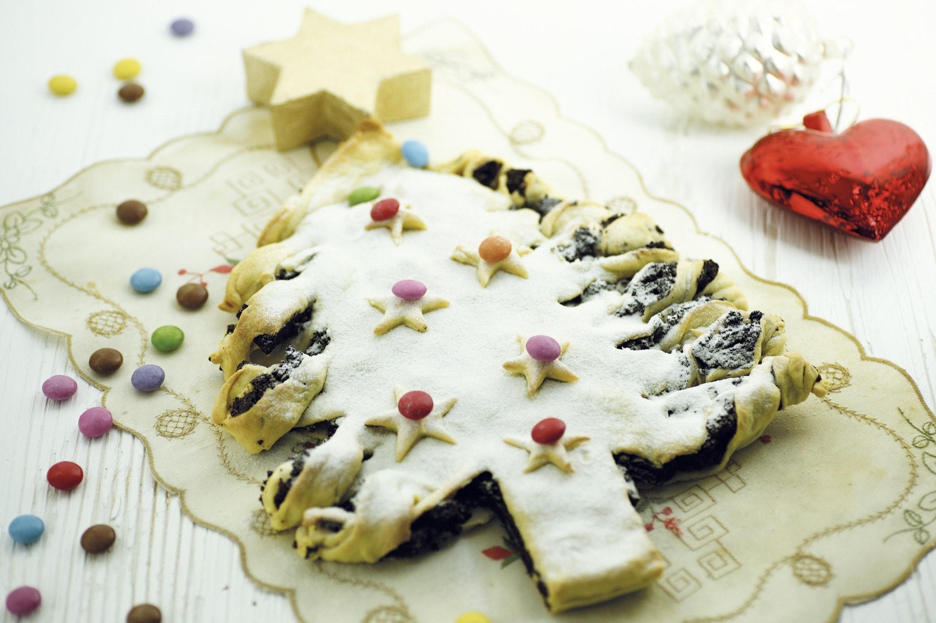 Alberello di pasta brisè al cioccolato - Parmalat