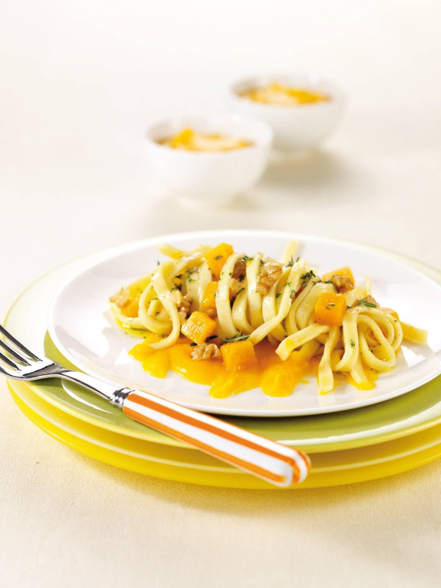 Bavette con zucca e noci - Parmalat