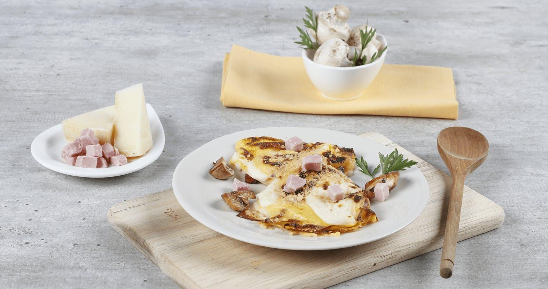 Crêpes prosciutto e funghi - Parmalat