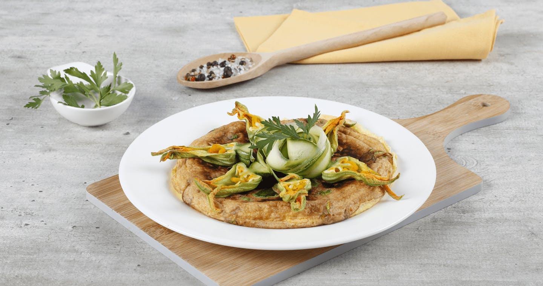 Frittata con fiori di zucca - Parmalat