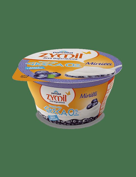 Yogurt alla greca mirtillo senza lattosio zymil for Yogurt greco land