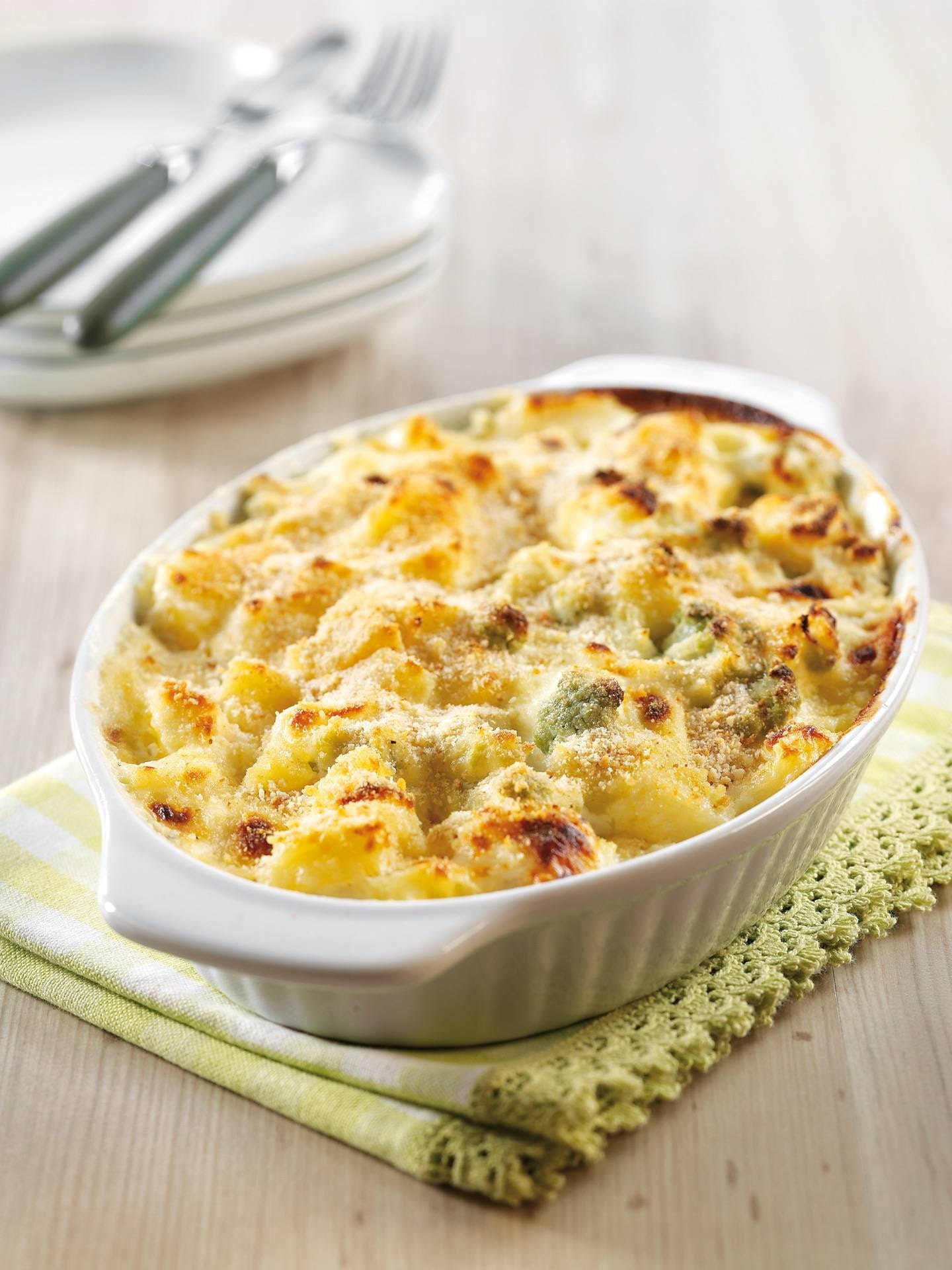 Gratin di patate e broccoli romani - Parmalat