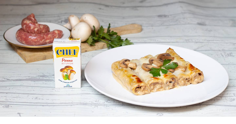 Cannelloni funghi e salsiccia - Parmalat