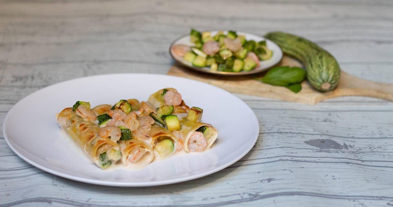 Cannelloni con gamberi e zucchine - Parmalat