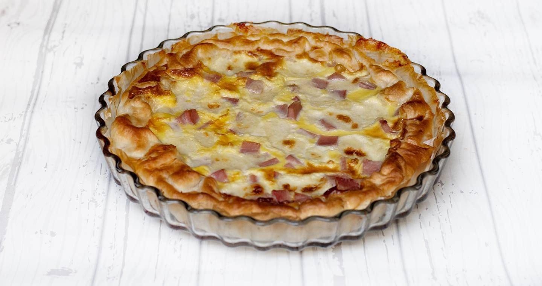 Torta salata con prosciutto e formaggio - Parmalat
