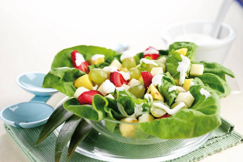 Insalata di frutta, cuori di lattuga e provolone dolce - Parmalat