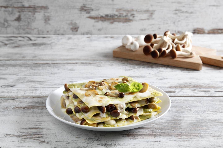 Lasagne al pesto e funghi - Parmalat