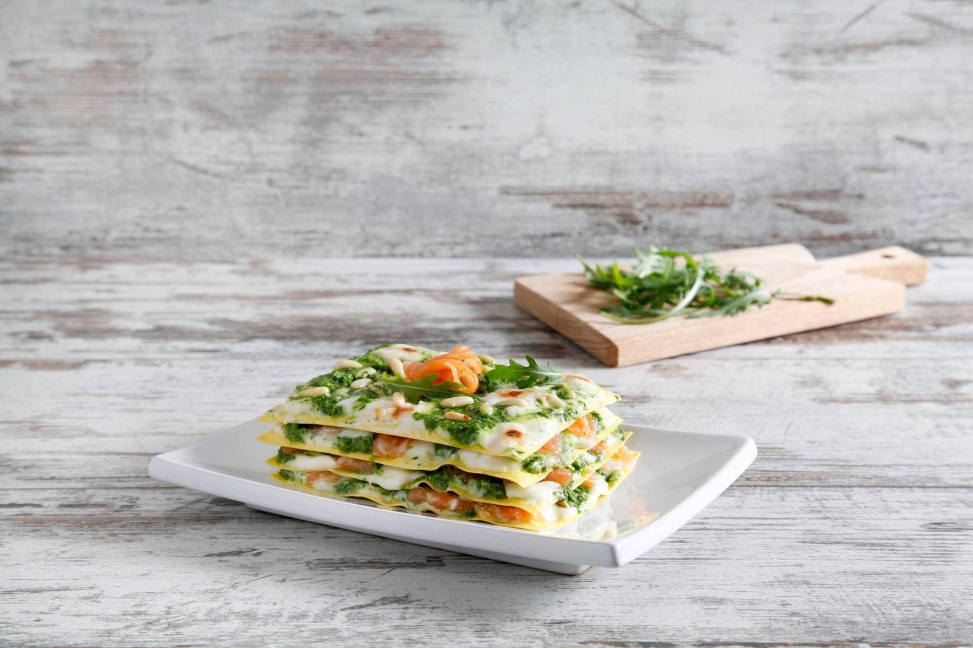 Lasagne al pesto e salmone - Parmalat