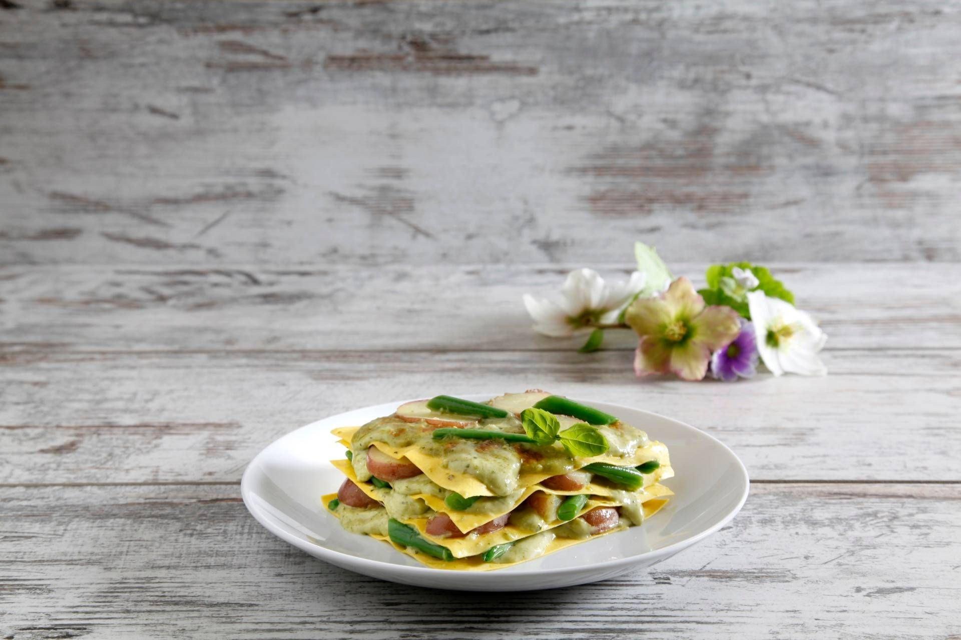 Lasagne al pesto con fagiolini e patate - Parmalat