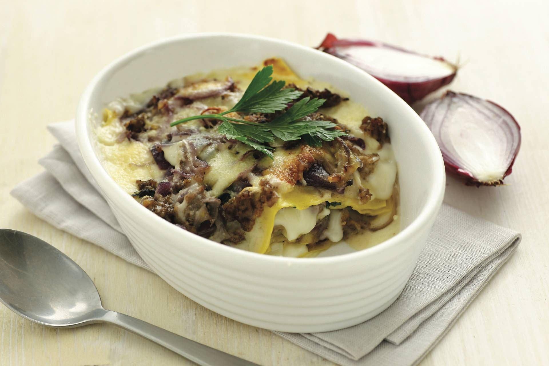 Lasagna al radicchio e cipolla di Tropea - Parmalat