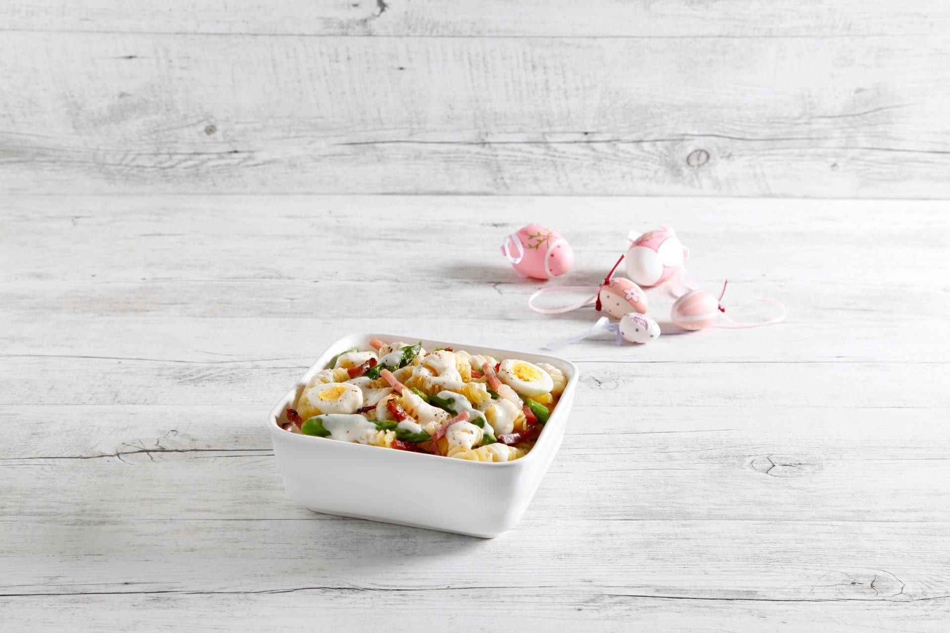 Pasta pasticciata con asparagi e uova di quaglia - Parmalat