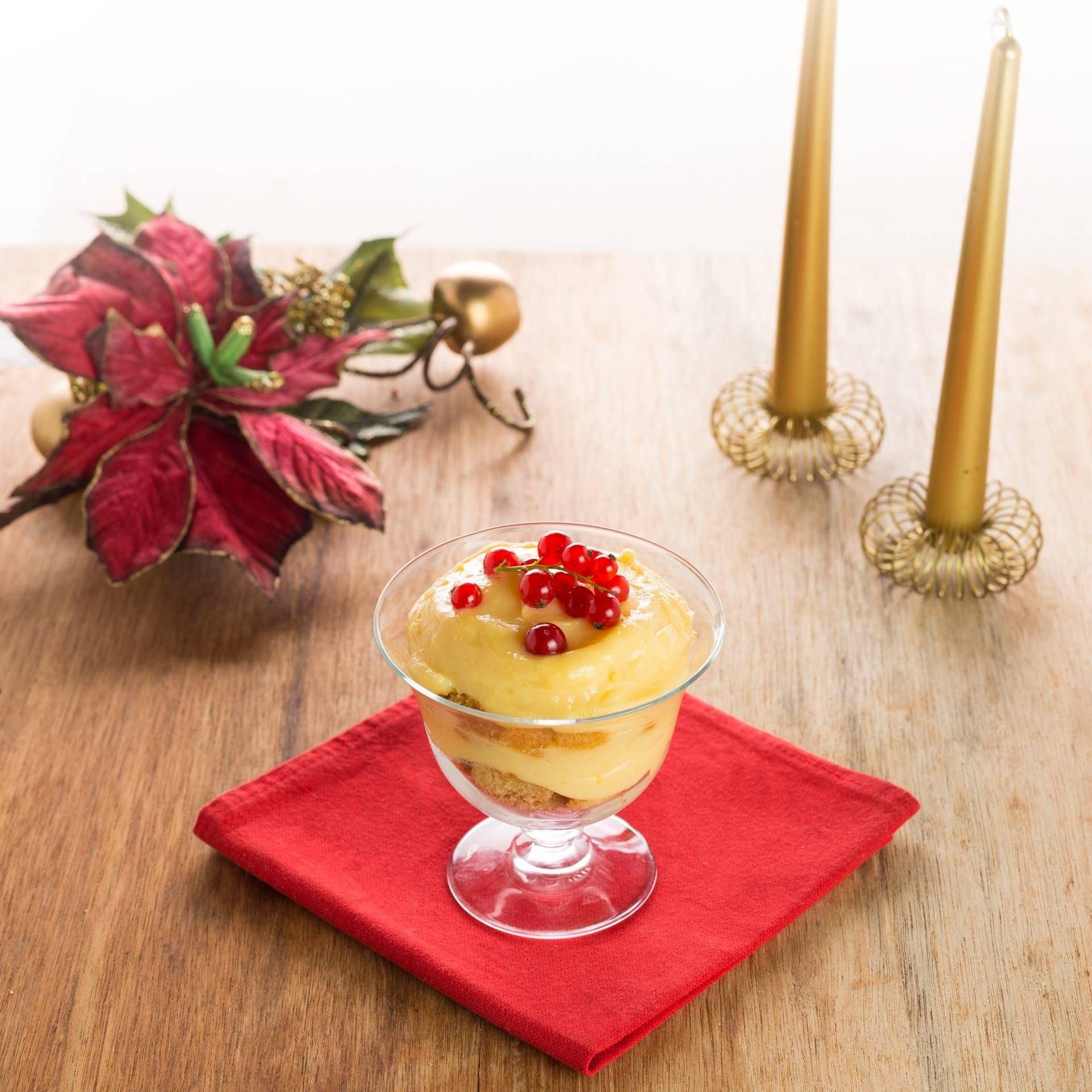 Pandoro in coppa con crema pasticcera - Parmalat