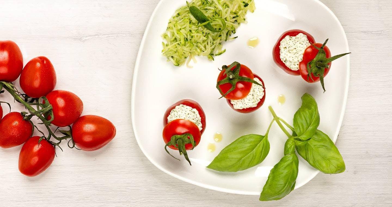 Pomodorini ripieni con Chef Ripieno e crema di zucchine - Parmalat