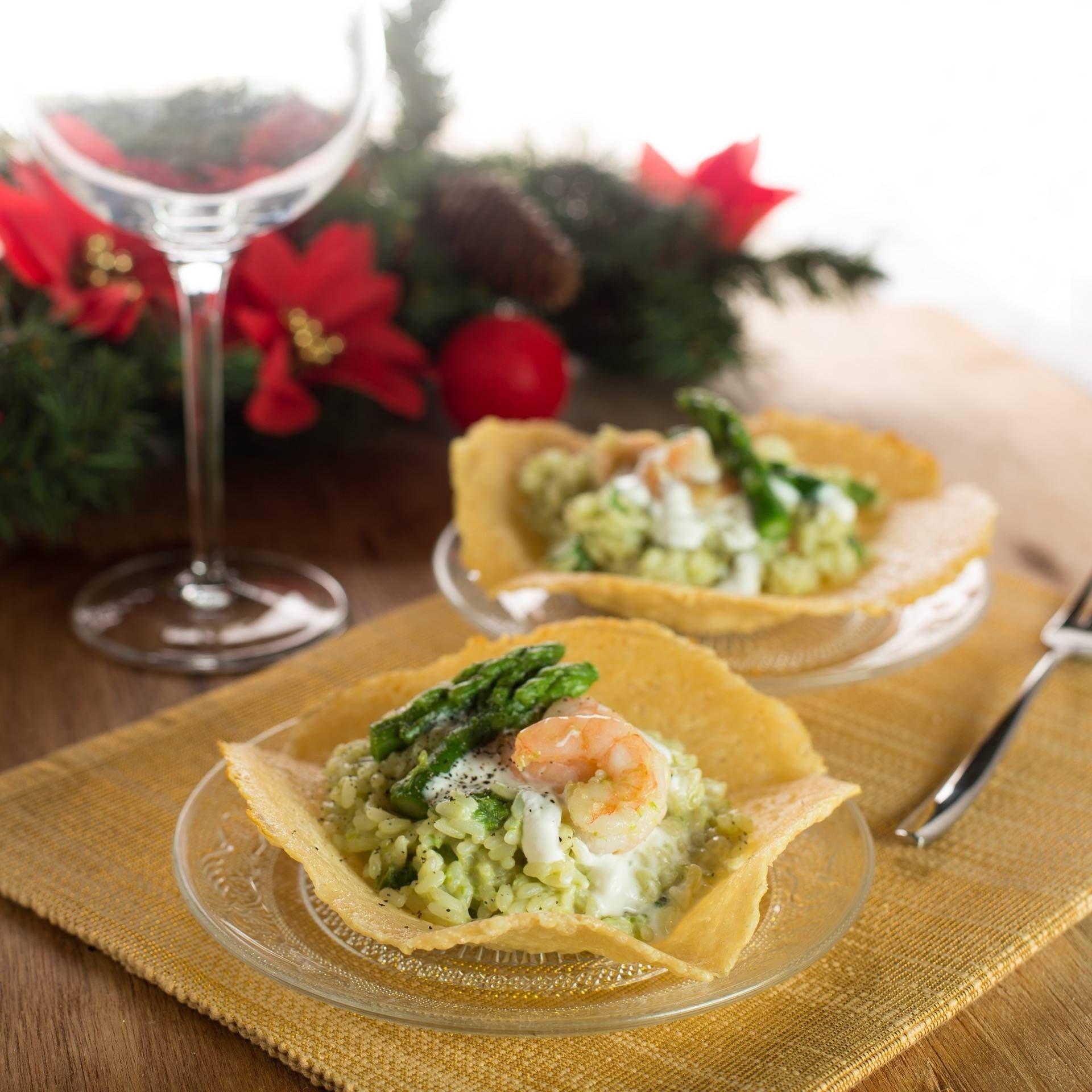 Risotto agli asparagi e gamberi - Parmalat