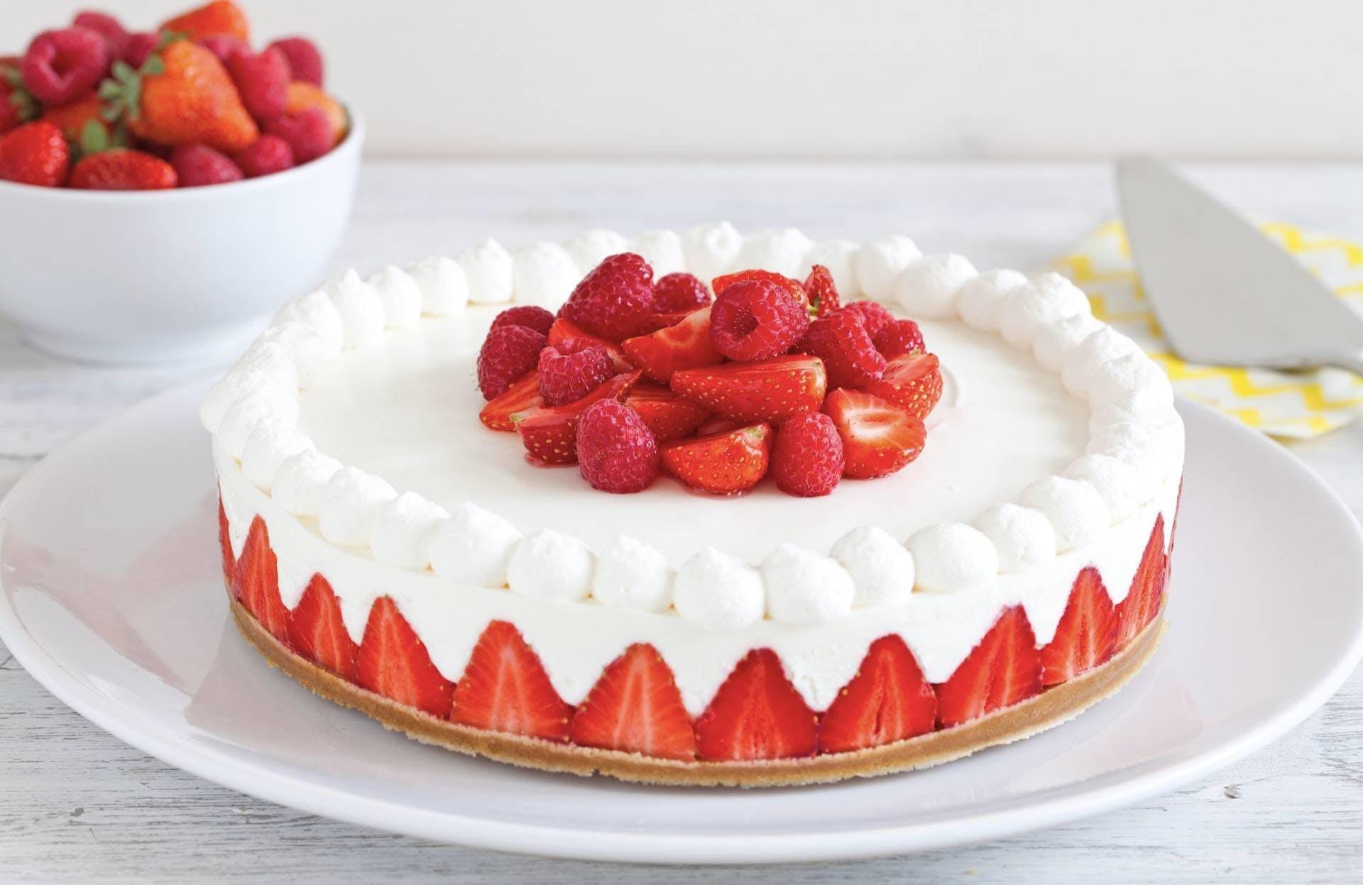 Ricetta Torta Allo Yogurt Fragole E Panna Chef