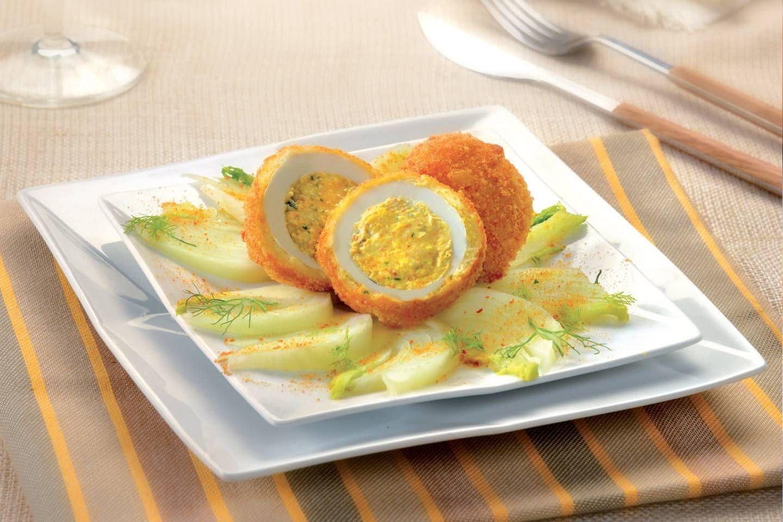 Uova farcite con contorno di finocchi e bottarga - Parmalat