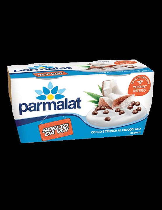 Yogurt Parmalat cocco e crunch al cioccolato