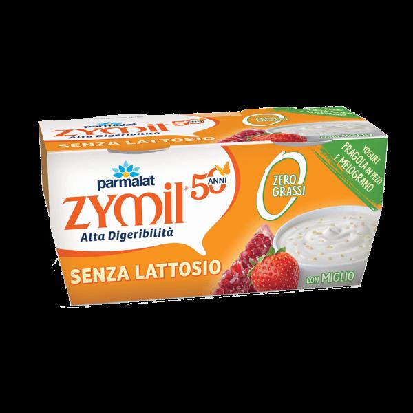 Yogurt Zymil Zero Grassi Fragola, Melograno e Miglio