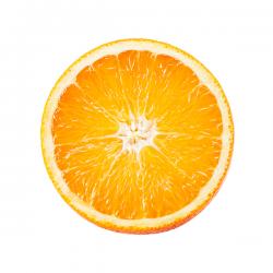 succo e buccia di mezza arancia