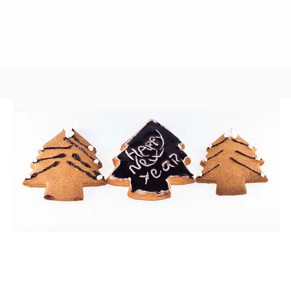 biscotti natalizi a forma di abete