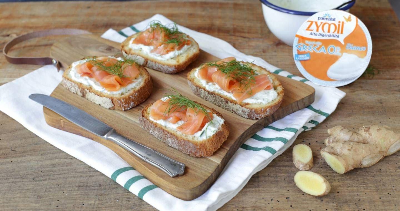 Bruschette con salmone - Parmalat