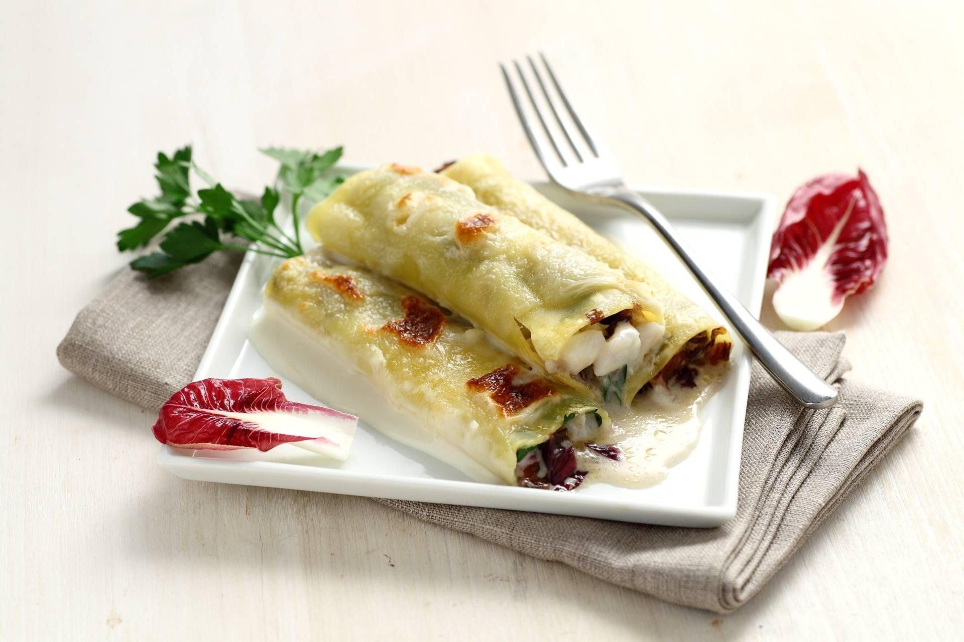 Cannelloni con baccalà e radicchio - Parmalat