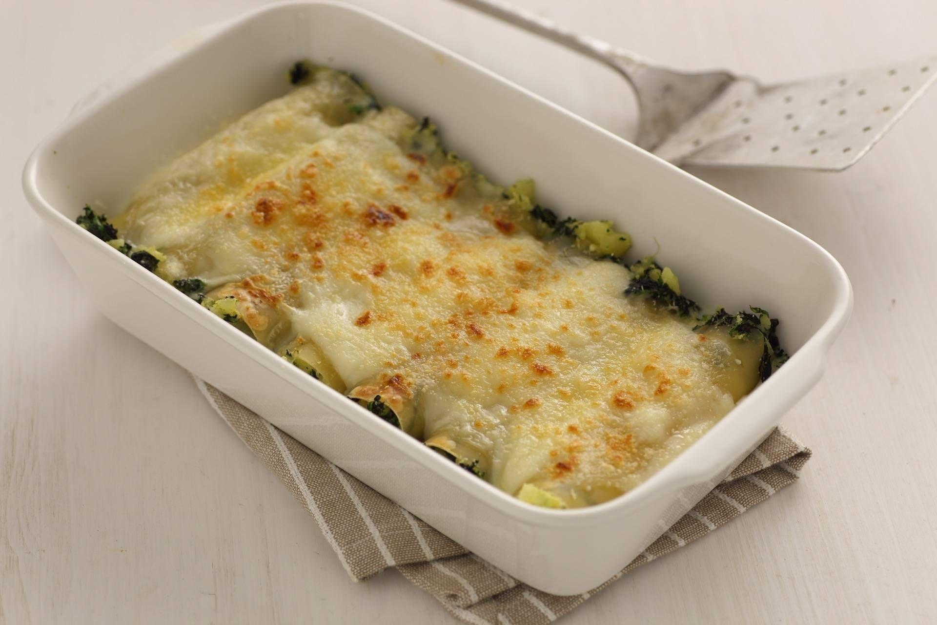 Cannelloni patate, spinaci e panna - Parmalat