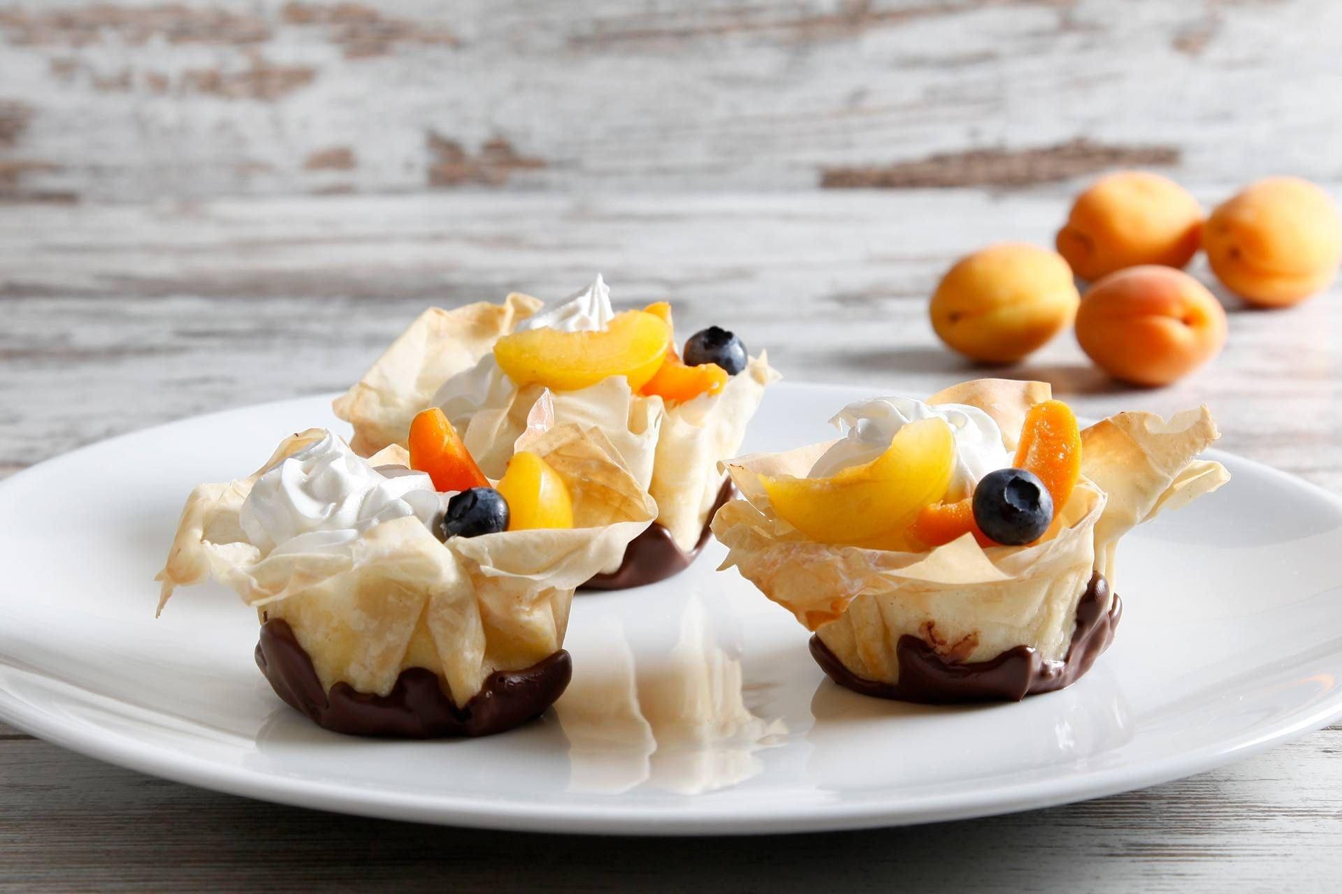 Cestini di Pasta Fillo con Crema Pasticcera - Parmalat