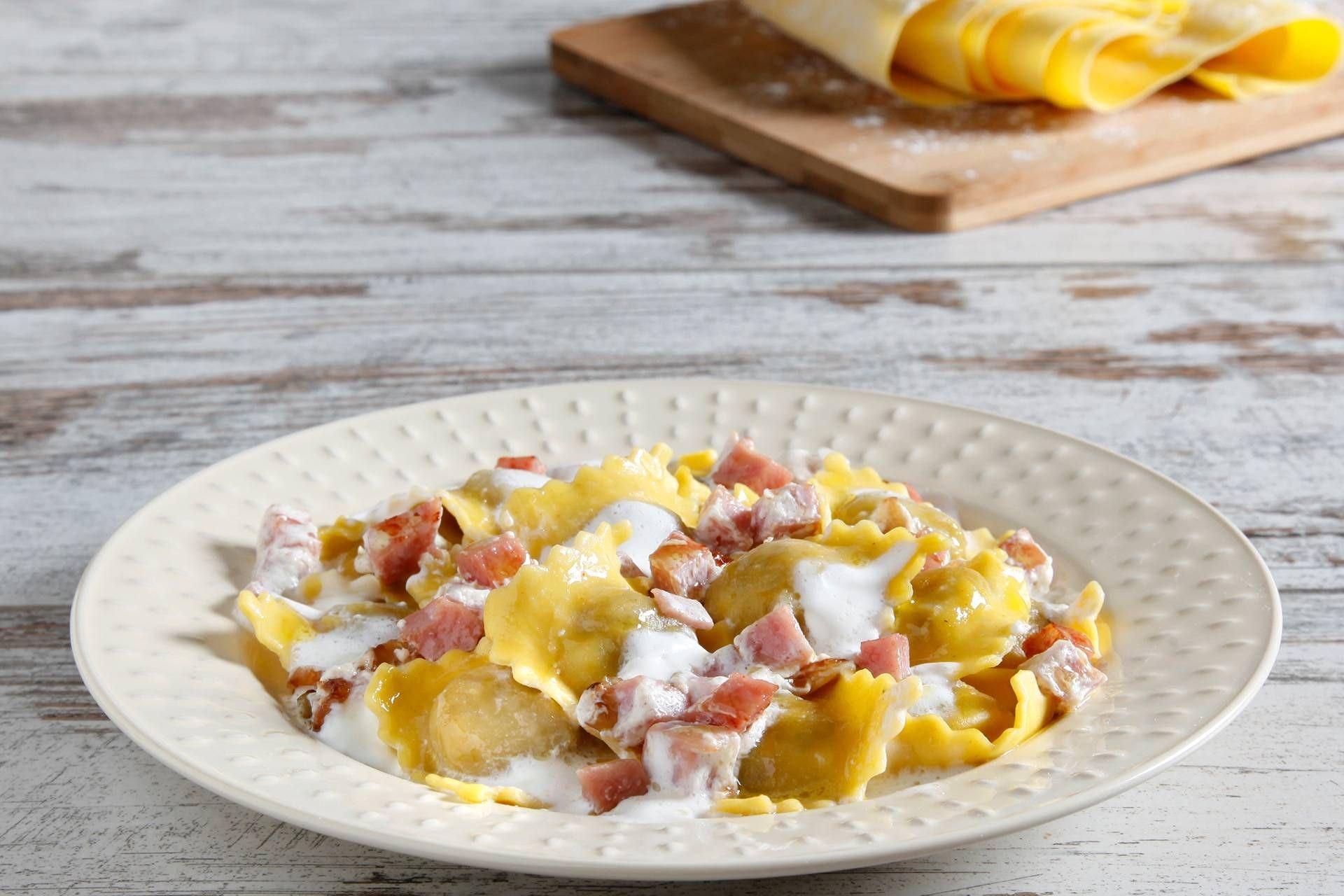 Ravioli prosciutto cotto e panna - Parmalat