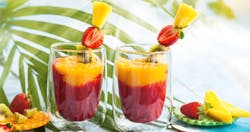 Cocktail analcolico ananas e fragola