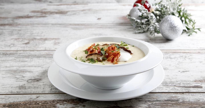 Crema di Patate e Porcini con Pancetta Croccante - Parmalat