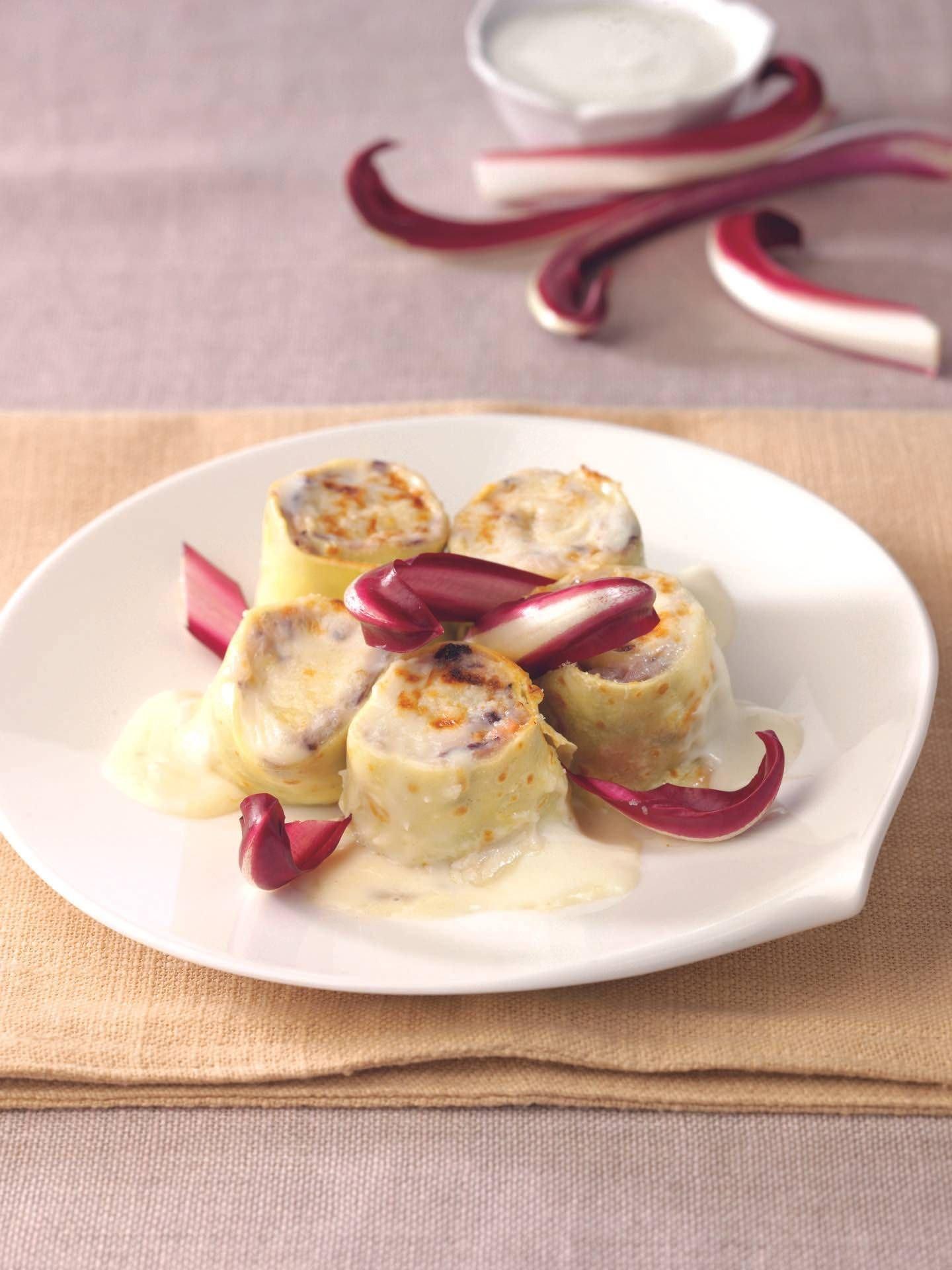 Crêpes al radicchio e prosciutto affumicato - Parmalat