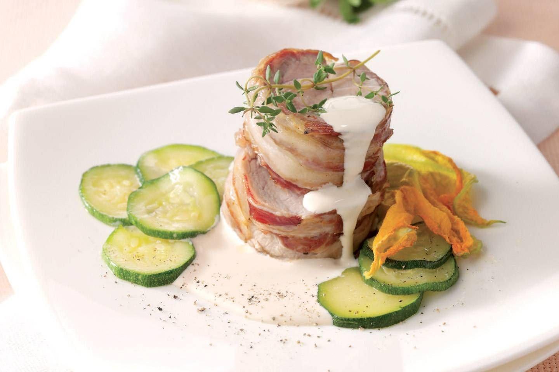 Filetto di vitello con salsa ai funghi e zucchine in fiore - Parmalat