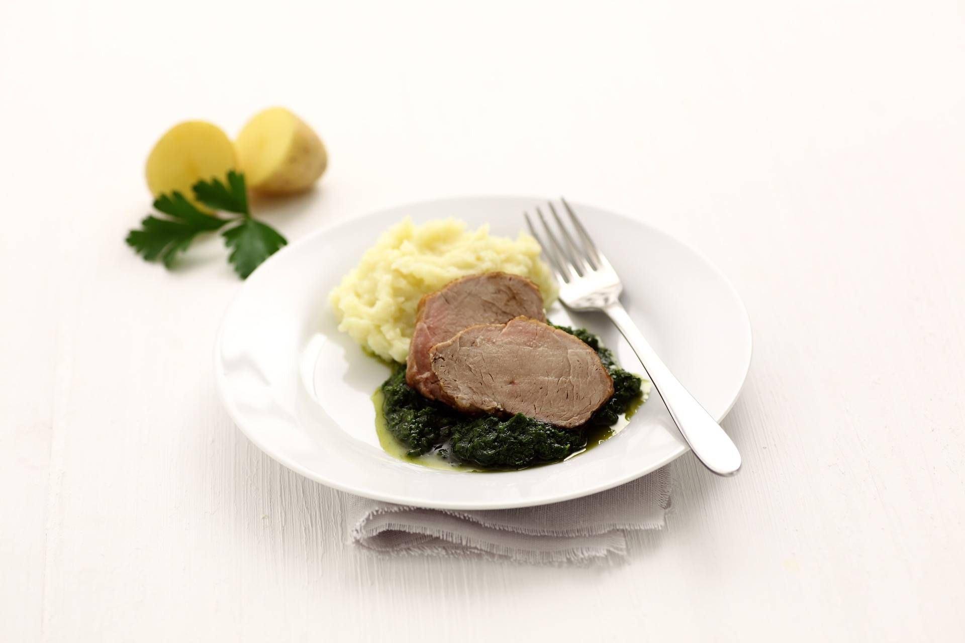 Filetto di vitello in crema di spinaci e patate - Parmalat
