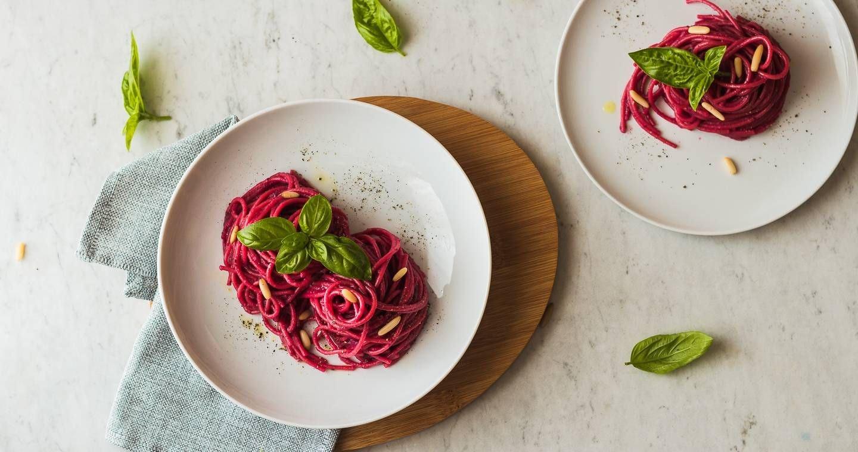 Spaghetti con crema di barbabietola rossa - Parmalat