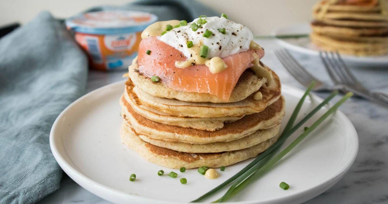 Pancakes salati con yogurt greco - Parmalat