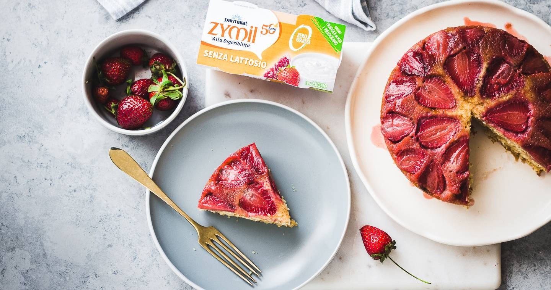 Torta rovesciata allo yogurt e fragole - Parmalat