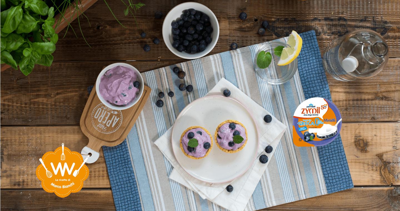 Cestino di frolla con yogurt alla greca al mirtillo - Parmalat