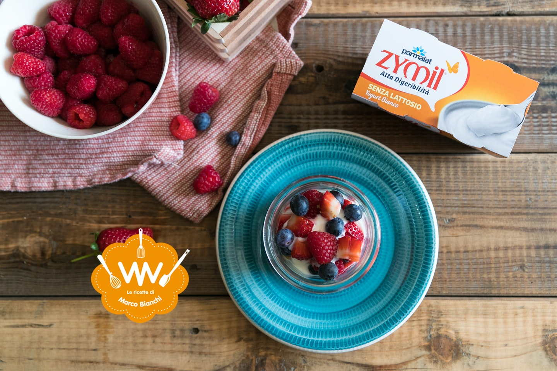 Tiramisù alla frutta con yogurt - Parmalat