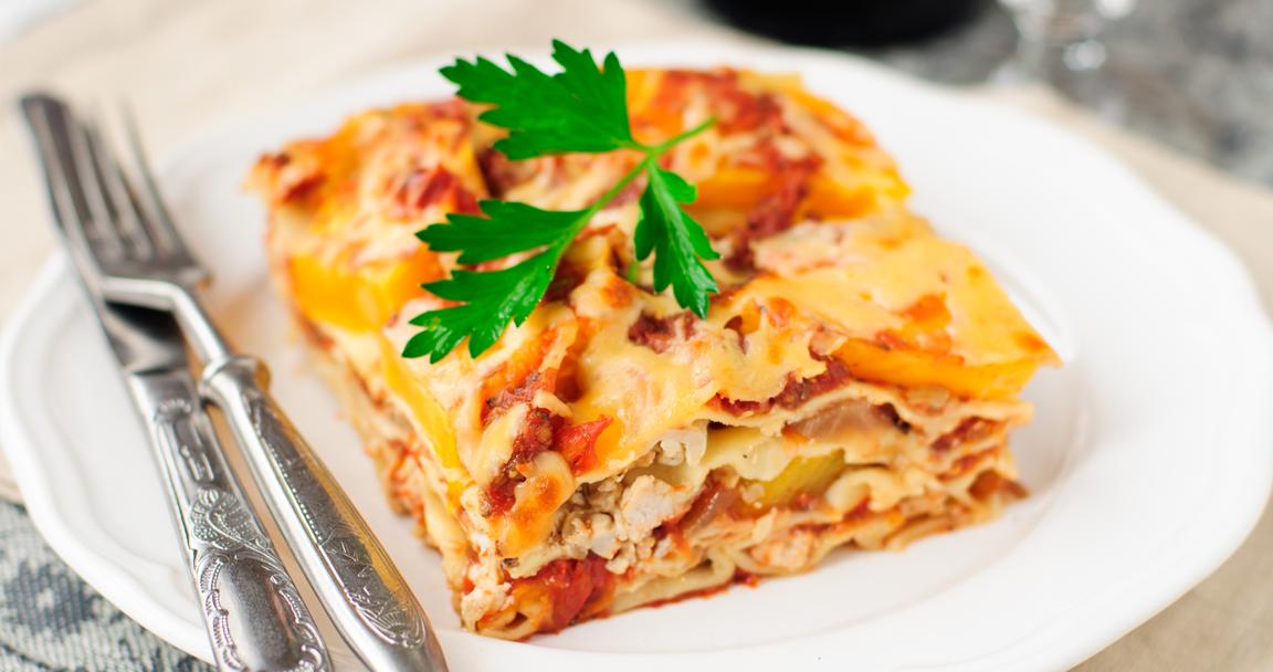 Lasagne zucca e funghi - Parmalat