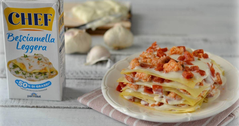 Lasagne con scampi e pomodoro - Parmalat