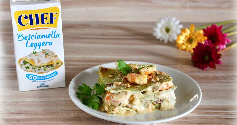 Lasagne verdi con gamberi e nocciole - Parmalat