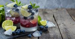 Mojito ai frutti di bosco (analcolico)
