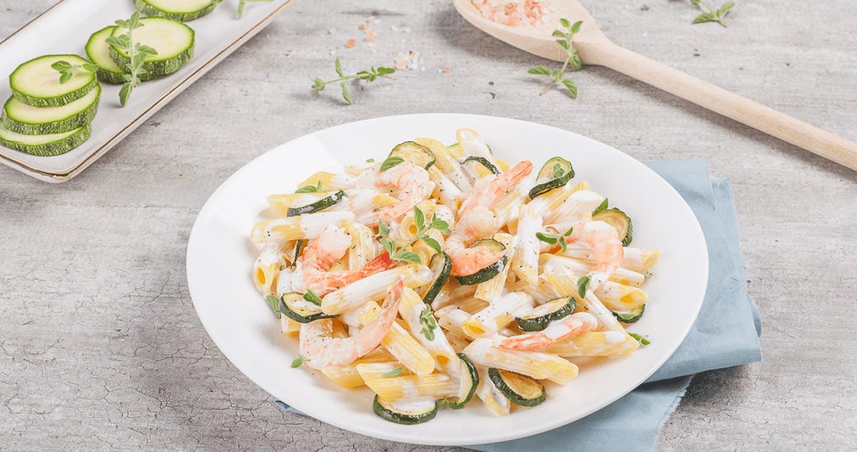 Penne zucchine e gamberetti - Parmalat