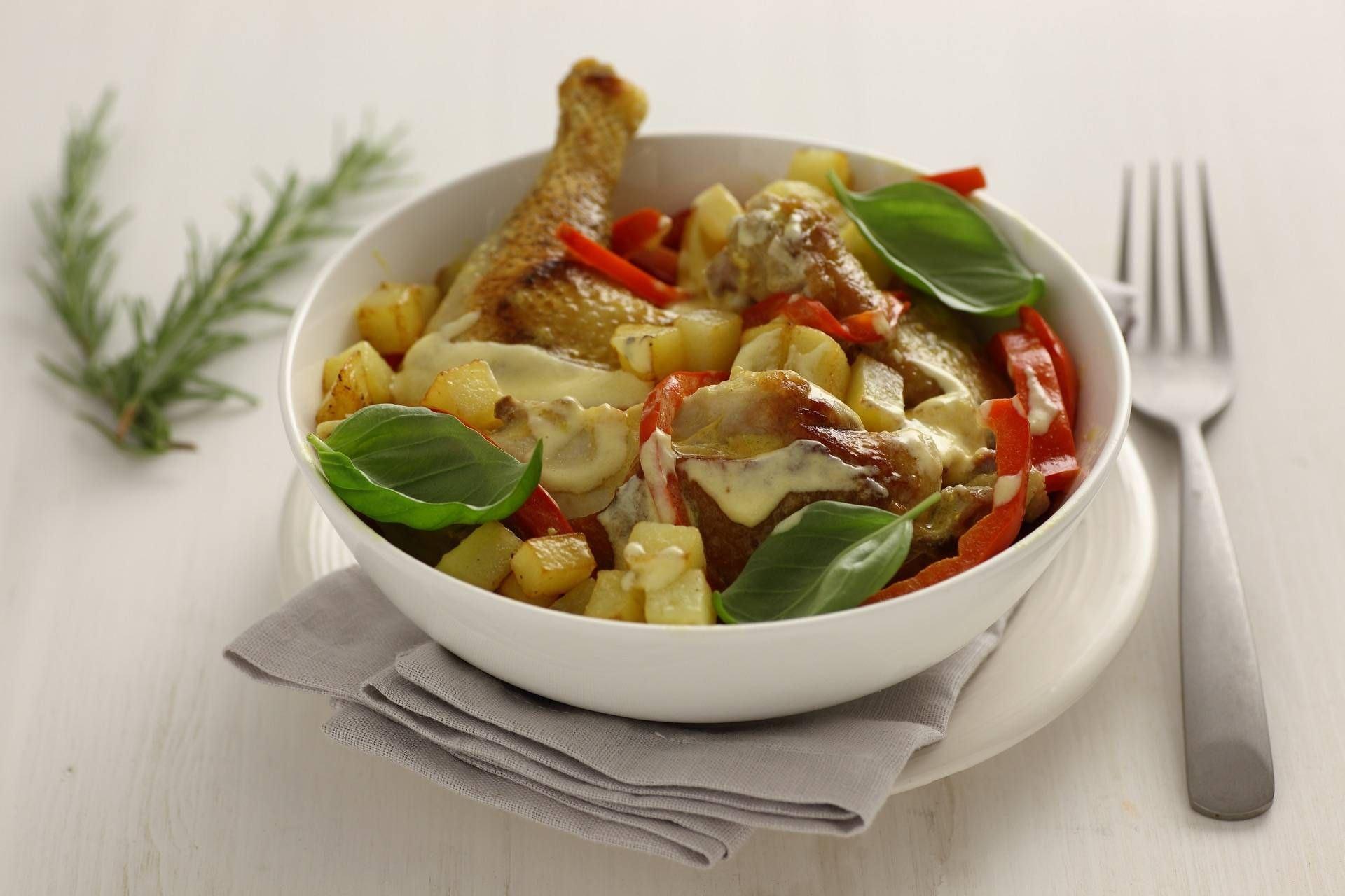 Pollo alla diavola con patate - Parmalat
