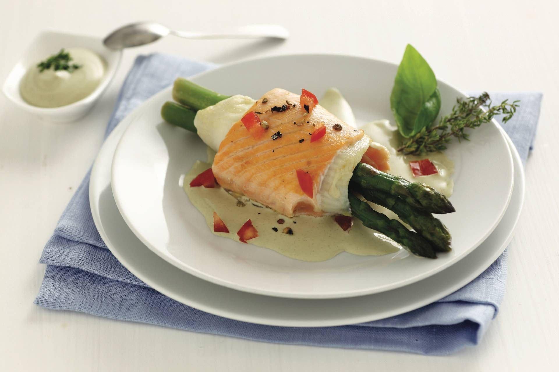 Rotolo di salmone, sogliola e asparagi - Parmalat