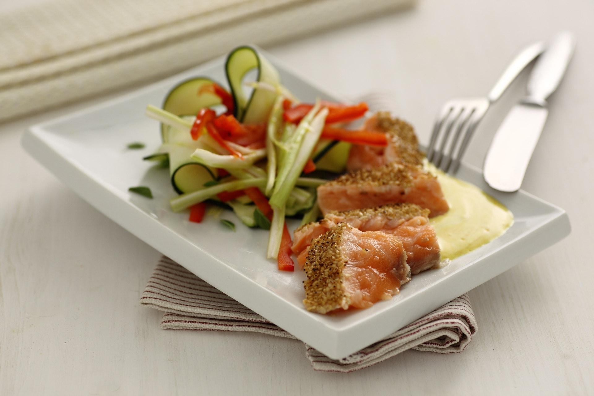 Salmone in crosta di sesamo - Parmalat