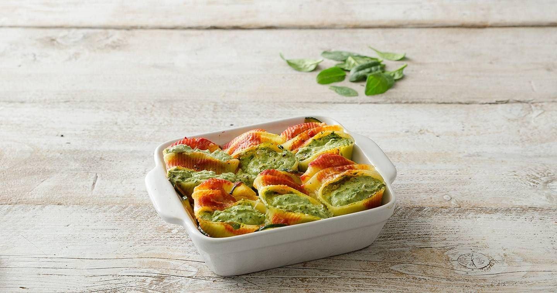 Conchiglioni ripieni ricotta e zucchine - Parmalat